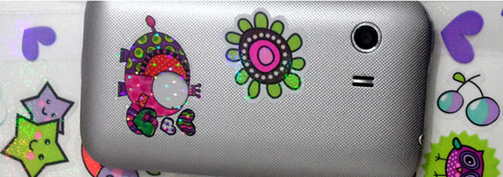 Banner Stickers con mirella o metalizado 02